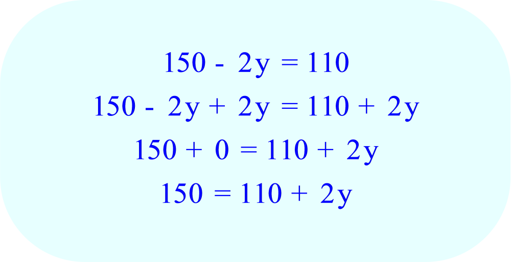 Add 2y to each side of the equation