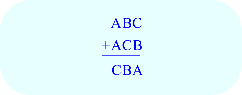 Math - logic puzzle - ABC + ACB = CB