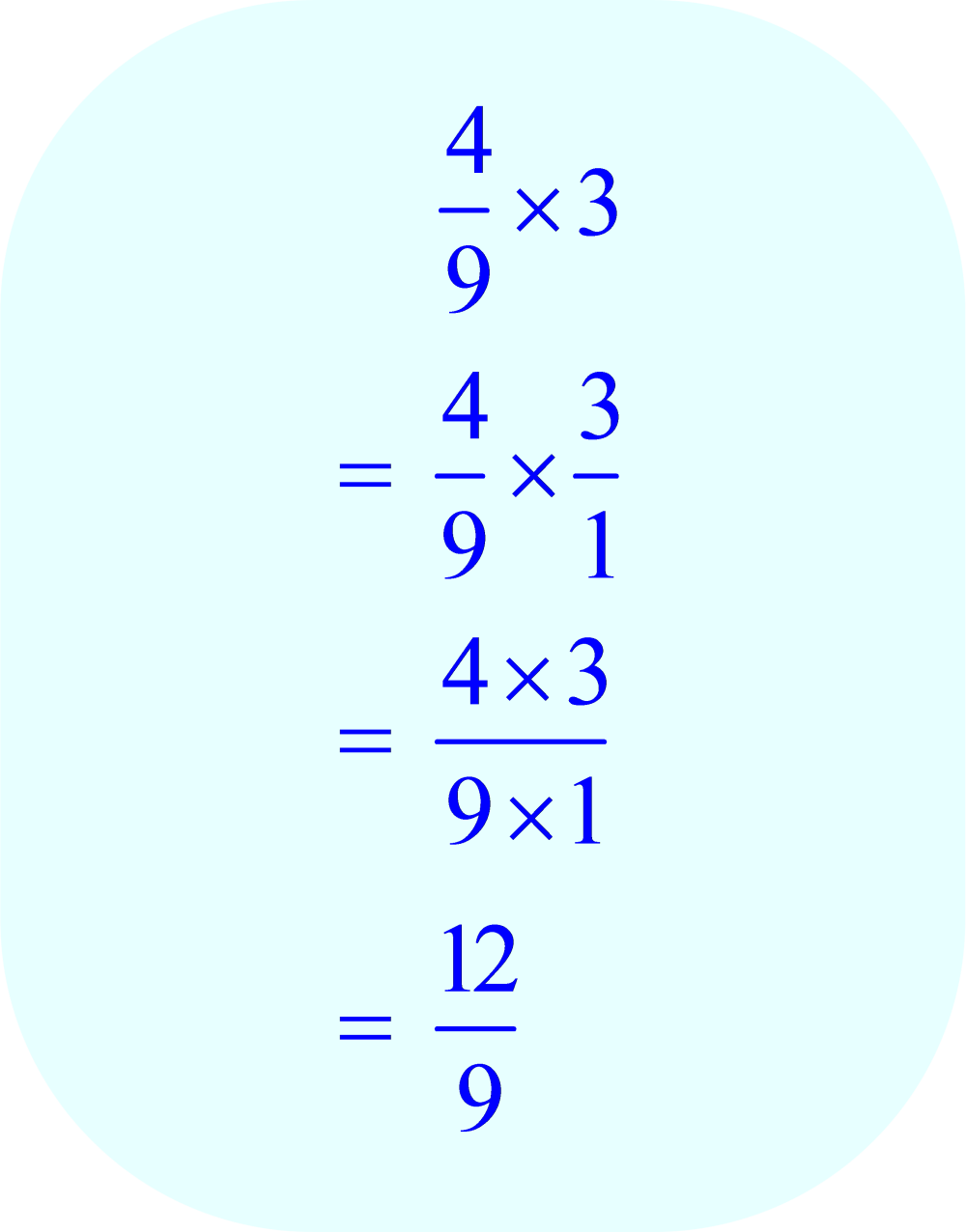 Multiplication of Fraction by Integer