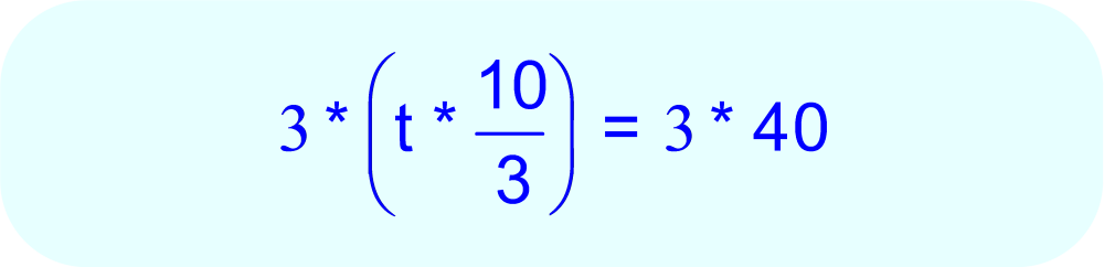 Multiply each side of the equation by 3.  This will eliminate the fraction on the left side of the equation.