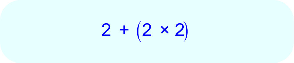 Numerical Expression using parentheses for clarity