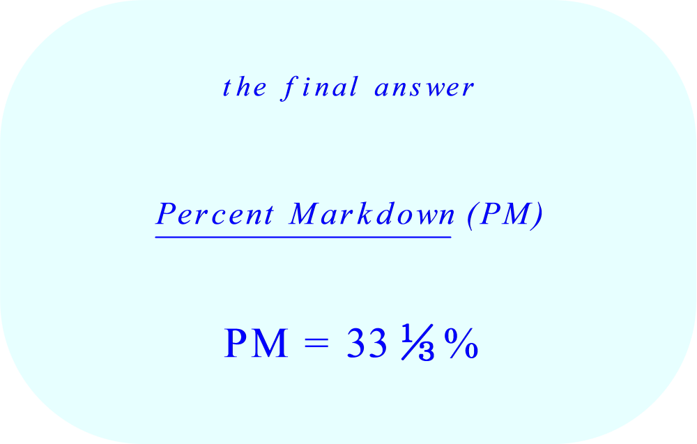 Percent Markdown - three reams of printer paper with discount - final answer
