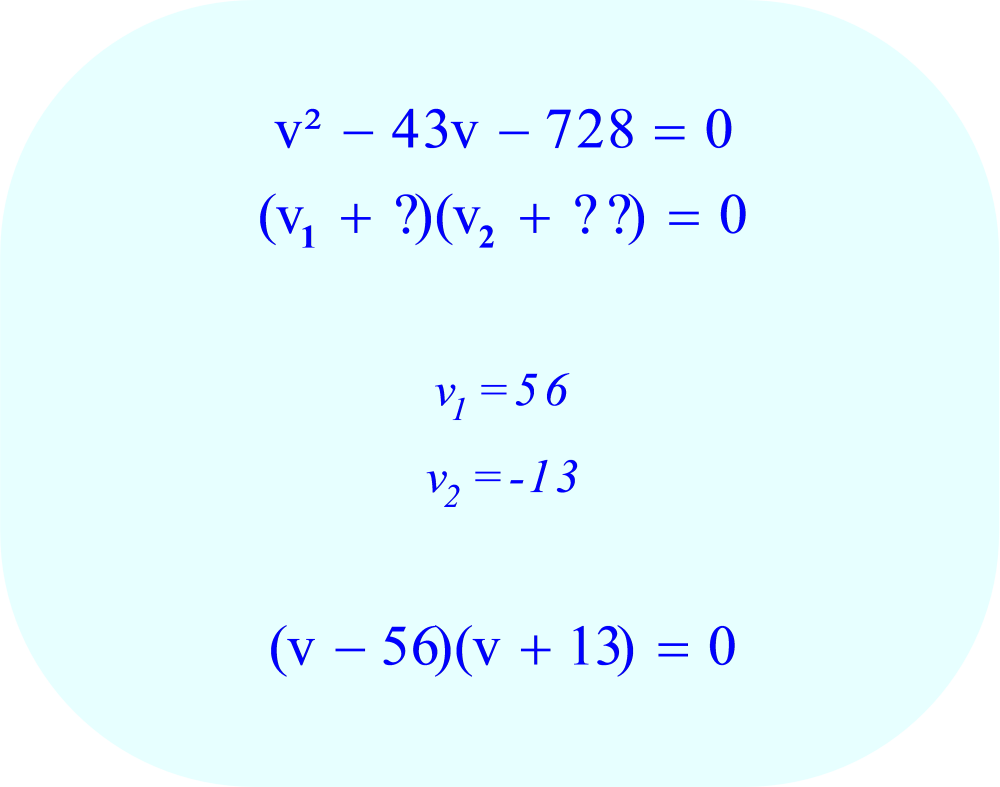 Reverse the signs to determine the quadratic factors