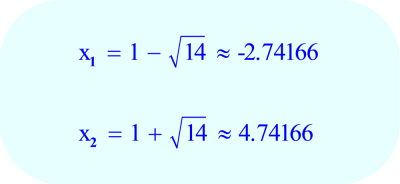 Quadratic Formula - Final Answer