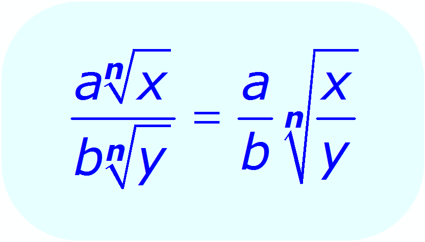 radical property of division