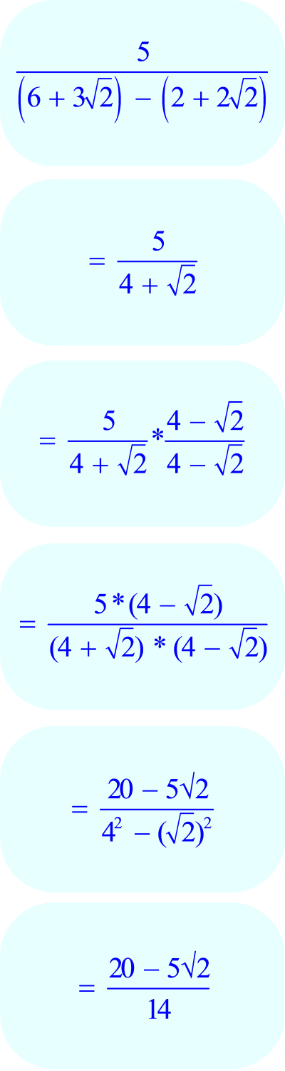 Math – rationalize the denominator in 6 steps