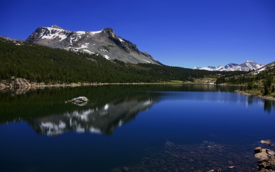 Reflection Symmetry - Reflection of Mountain in Lake