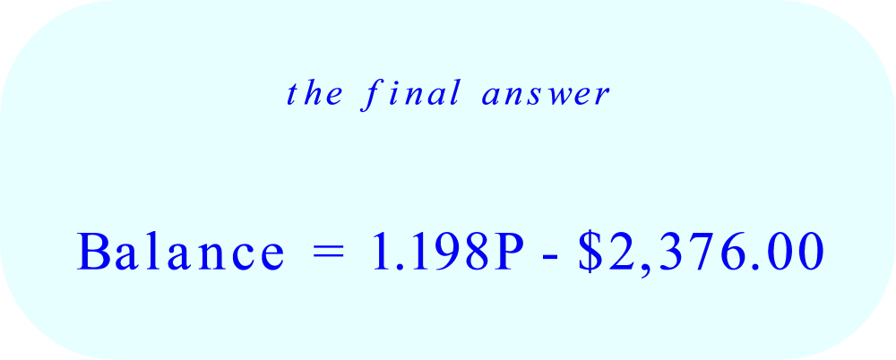 Simple Annual Interest Problem:  final answer