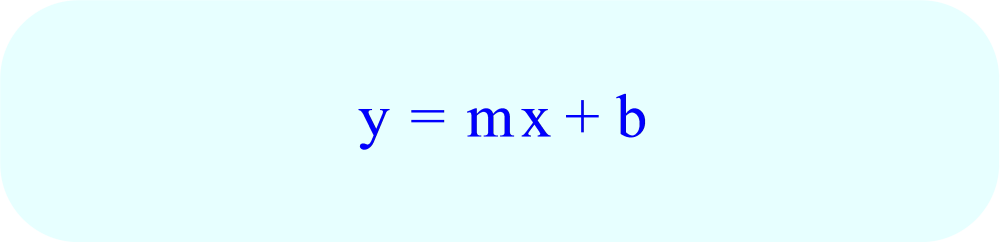 Generalized Slope Intercept Form of a Linear Equation