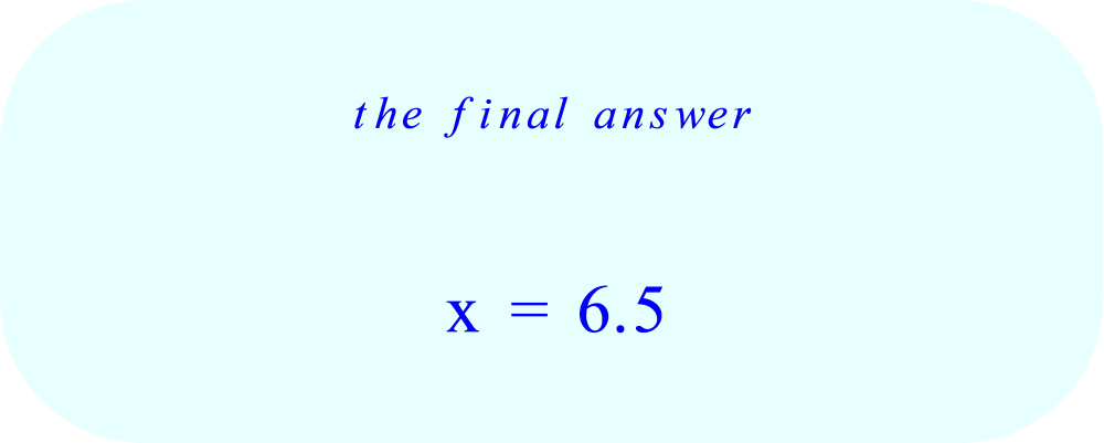 Solution  7(x - 2) = 3(x + 4)