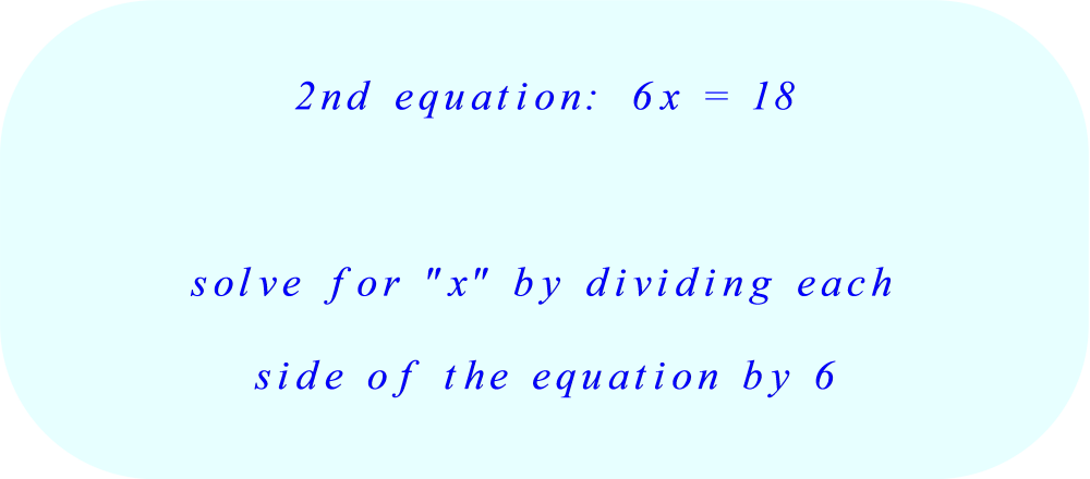 solve the second equation for x:  part A