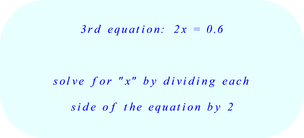 solve the third equation for x:  part A