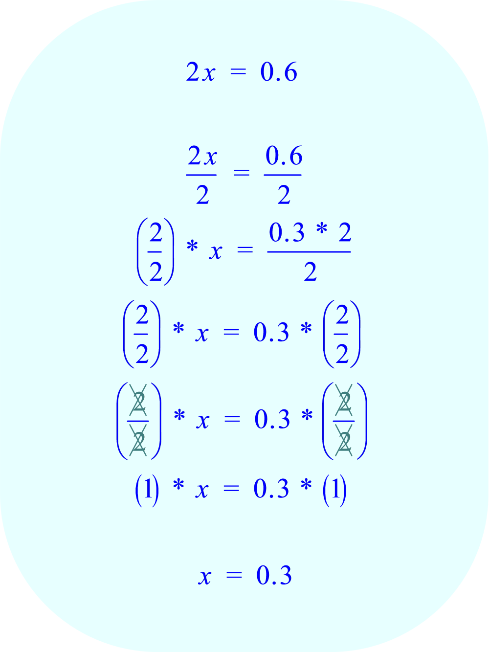 solve the third equation for x:  part B
