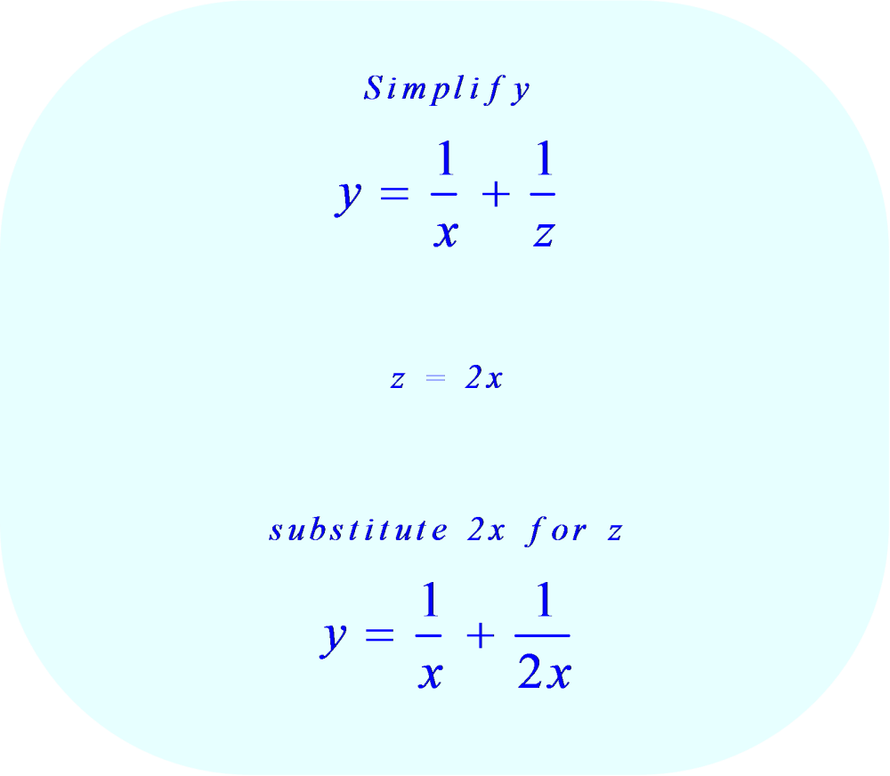 substitution method - substitute 2x for z