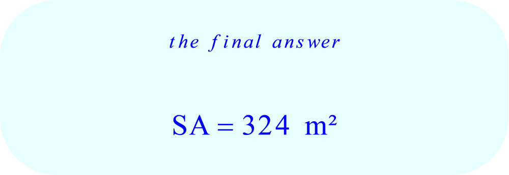 Surface Area of the triangular prism - final answer