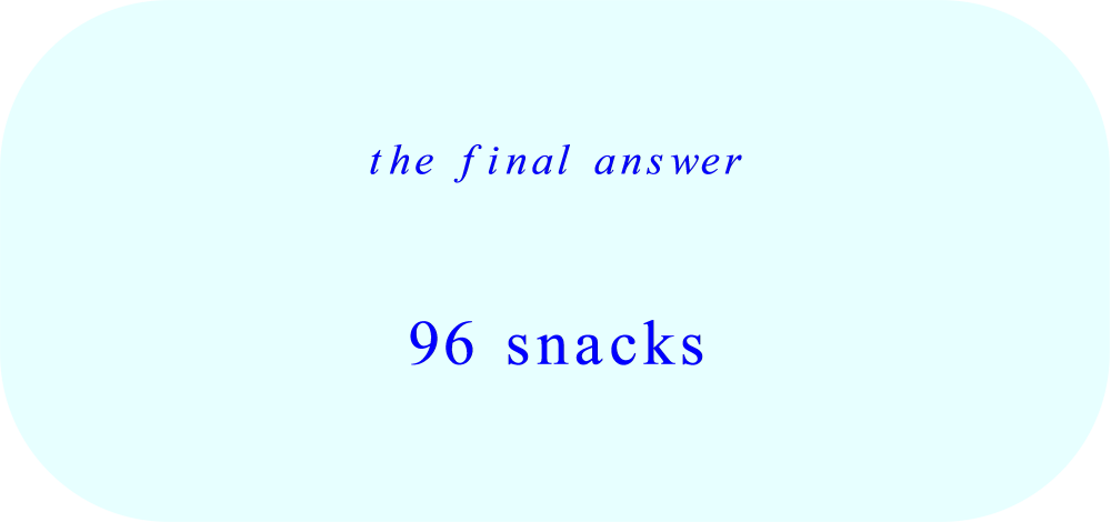 total number of snacks – final answer