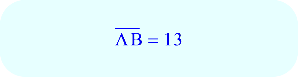 Final Answer for triangle ABC:  AB = 13.