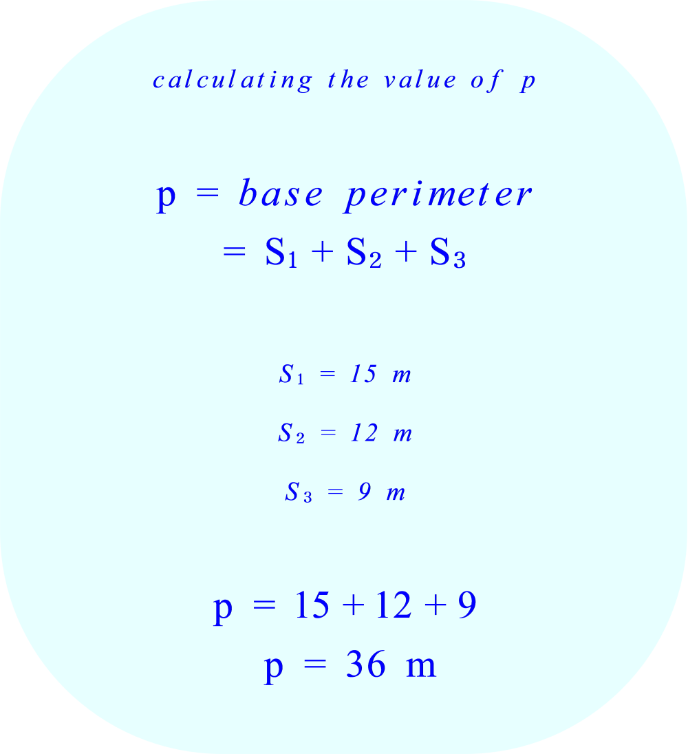 Triangular prism - calculating the base perimeter