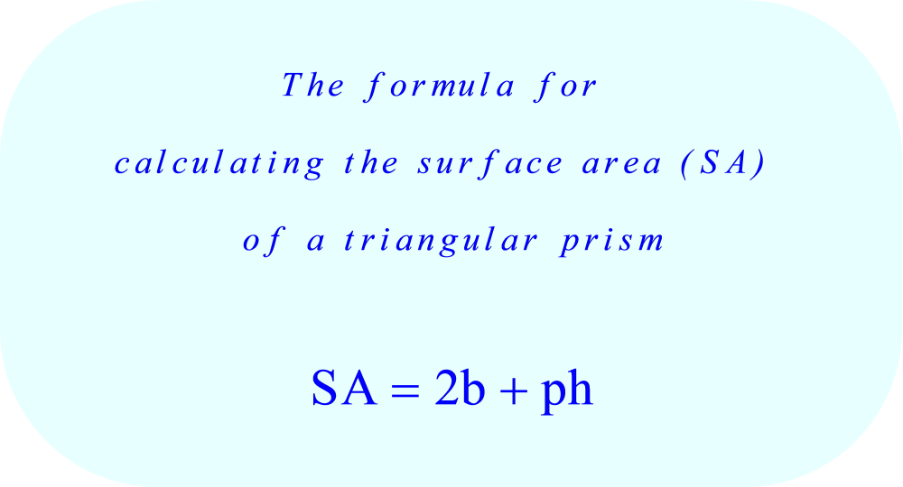 Triangular prism surface area calculation