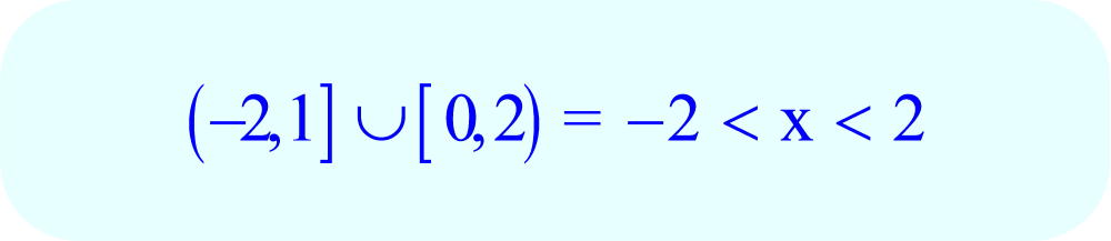 Union of Two Sets - Interval Notation and Final Inequality