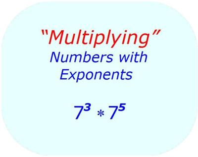 Algebra - Multiplication with Exponents